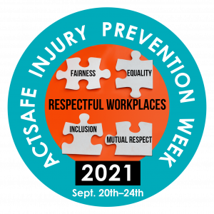Injury prevention week logo September 20th to 24th